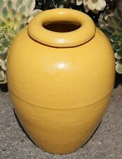 "Bauer Pottery Los Angeles Circa 1930's #100 Yellow 16"" Oil Jar"