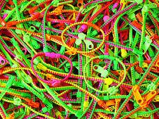 LOT 12 Bracelets Fermeture Eclair Zip Zippé Fluo Revendeur Grossiste Neuf