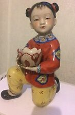 1930s Chinese Porcelain Doll Of A Girl - Excellent Condition