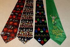 NEW 4 Holiday Mens Neck Ties Halloween Thanksgiving Christmas St Pats   #3