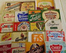 50  Different Vintage US Beer Labels #2 Unused