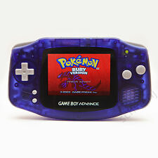 Backlit Game Boy Advance - Midnight Blue - Nintendo Backlight Mod GBA AGS-101