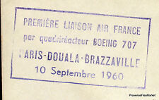 1960 BOEING 707 PARIS DOUALA BRAZZAVILLE    Airmail Aviation premier vol AC09