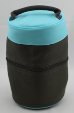 "Tupperware Meal Solutions To Go Insulated Lunch Bag Aqua and Brown 8"" Tall New"