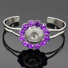 European crystal Metal bracelets drill fit for noosa snaps chunk charm button