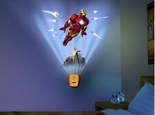 Wild Walls IRONMAN wall stickers 12 decals with LIGHT & SOUNDS superhero Marvel