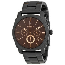 Fossil Machine Chronograph Black Stainless Steel Mens Watch FS4682