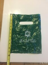 MARSHALL FIELD'S GREEN PLASTIC HANDLE SHOPPING BAG WITH CLOCK NAME LOGO 1