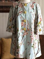 DOLCE & GABBANA FLORAL JACQUARD CHERRY BLOSSOM RUNWAY COAT JACKET DRESS SZ 42