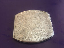 HAND-CHASED STERLING COMPACT