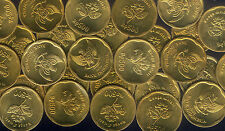 WHOLESALE 50 UNCIRCULATED INDONESIA GOLDEN JASMINE FLOWER COINS KM # 54 of 1992