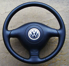 VW GOLF MK4  - LEATHER STEERING WHEEL & AIRBAG - SHIPPING ONLY UK