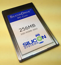 PC CARD SILICON DRIVE 256MB SOLID-STATE STORAGE SSD-P25MI 22527/3502.