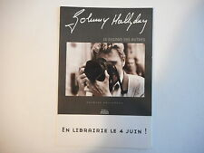 ╬ Port Gratuit ╬ CARTE POSTALE PROMO : JOHNNY HALLYDAY ♫♫ LIVRE 'REGARD ...""
