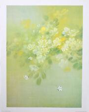 """BUTTERFLIES AND FLOWERS Wall Art 18"""" x 24"""" Vintage """"Golden Glow"""" by David Lee"""