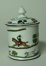 Coalport Hunting Scene Mustard Pot Wedgwood / Crown Staffordshire 2 Availible