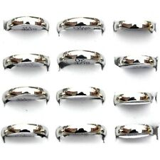 24pcs Wholesale Fashion Jewelry Lots Unisex Stainless Steel Simple Band Ring Hot