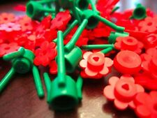 Lego Red Flower w/Stalk (125 pieces) #3741, #3742