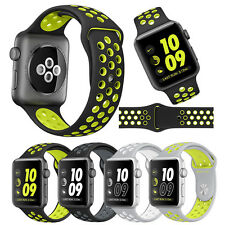 Replacement Silicone Sports Bracelet Strap For Apple Watch Band Nike Series 2/1