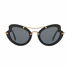 Occhiale da sole Miu Miu MU11RS 1AB1A1 nero black sunglasses nuovo new donna