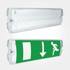 LED EMERGENCY LIGHT BULKHEAD IP65 SWITCHED MAINTAINED/NON MAINTAINED