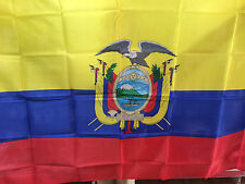 BANDERA NACIONAL DE ECUADOR 150x90cm - BANDERA ECUADOR 90 x 150 cm