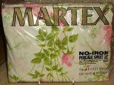 Martex Percale Sheet Twin Fitted Floral Vintage No Iron New in Package