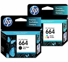 2 Pack - HP 664 Ink Cartridge Black + TRI-COLOR Original F6V28AL, F6V29A (Combo)