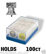 Coin Storage for 2x2 Paper Flips Lighthouse Plastic Box Holds 100 Coin Holders ✯