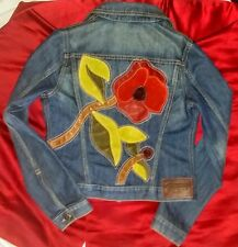 COACH Denim Jacket POPPY for PEACE LTD Edition *RARE*RARE* Size XS WOW Blue Jean