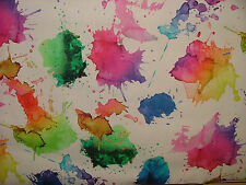 2m Artist Watercolour Photo Digital Printed Designer Cotton Upholstery Fabric