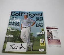 Tom Watson Signed Golf Digest Magazine October 2009 JSA COA