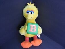 "2006 Sesame Street Big Bird 12"" Plush Toy Nanco Stuffed Animal B Block Muppet"