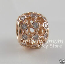 IN THE SPOTLIGHT 100% Genuine PANDORA Clear CZ/ROSE GOLD Plated Charm/Bead NEW
