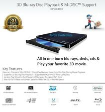 LG 3D Player ( 6x Blu-ray/ 8x DVD/ 24x CD Burner Writer) Slim External Drive