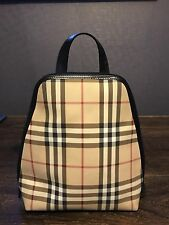 Rivestita in tela Zaino Burberry finiture in pelle Borsa donna piccola firma di controllo
