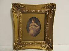 "Victorian lady Cameo in Gold Painted Frame ""Miss Murray"""