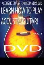 Acoustic Guitar  Lesson Z DVD For Beginners!!+5 Guitar Picks