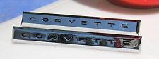 Corvette 1961 Corvette Side Fender Emblem Chrome Pair New