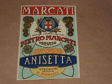 PUBBLICITA' ETICHETTA ANISETTA- ORIGINALE ANNI '60 - MARCATI TREVISO