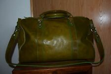 I Medici Firenze Italian Leather Weekender Carry-On Bag ~ Italy