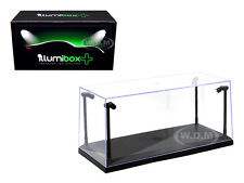 COLLECTABLE DISPLAY SHOW CASE WITH LED LIGHTS 1/18 WITH BLACK BASE 14001