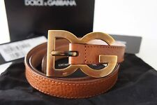 "Dolce & Gabbana Tan 80cm / 32"" Women's Belt With Dust Bag, Box, Care Card"