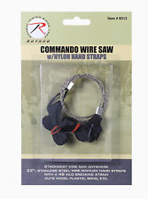 """New Rothco 22"""" Stainless Steel Camping/Survival Wire Saw w/ Nylon Hand Straps"""