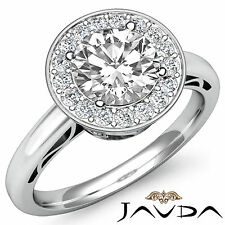 Round Diamond Engagement EGL E SI1 14k White Gold Filigree Delicate Ring 1.36 ct