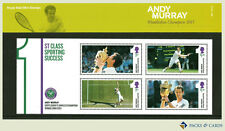 2013 Andy Murray Wimbledon Stamps in Presentation Pack PP461 (printed no.M21)