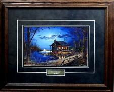 "Jim Hansel End of the Road Cabin Lake Art Print Framed 21"" x 17:"