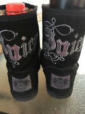 Juicy Couture Suede&Faux Leopard Fur Boots WM's SZ8Authentic Black&Sequin��⬇️