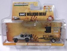 Greenlight Hitch & Tow Walking Dead Michonne's Jeep Wrangler YJ and Trailer