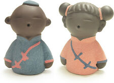 Little Girl&Boy Cute Clay Figurine Gift for Wedding Happiness Couple Decor